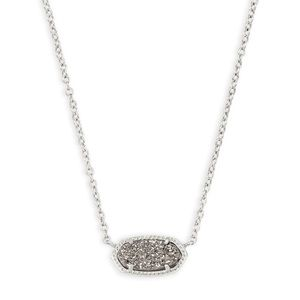 Kendra Scott Elisa Silver Necklace Platinum
